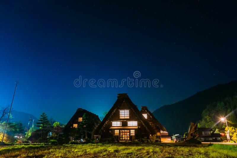 Las casas de Gassho-zukuri adentro Shirakawa-van imágenes de archivo libres de regalías