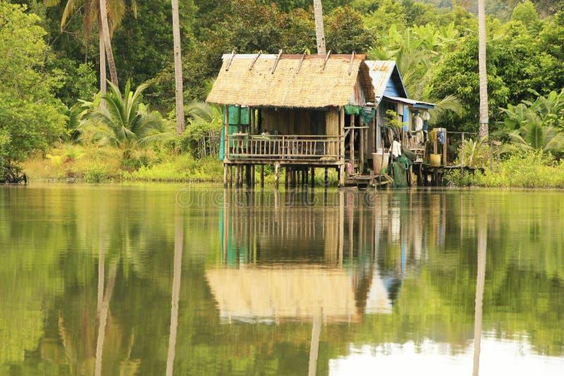 Las casas del zanco, escarian el parque nacional, Camboya fotos de archivo