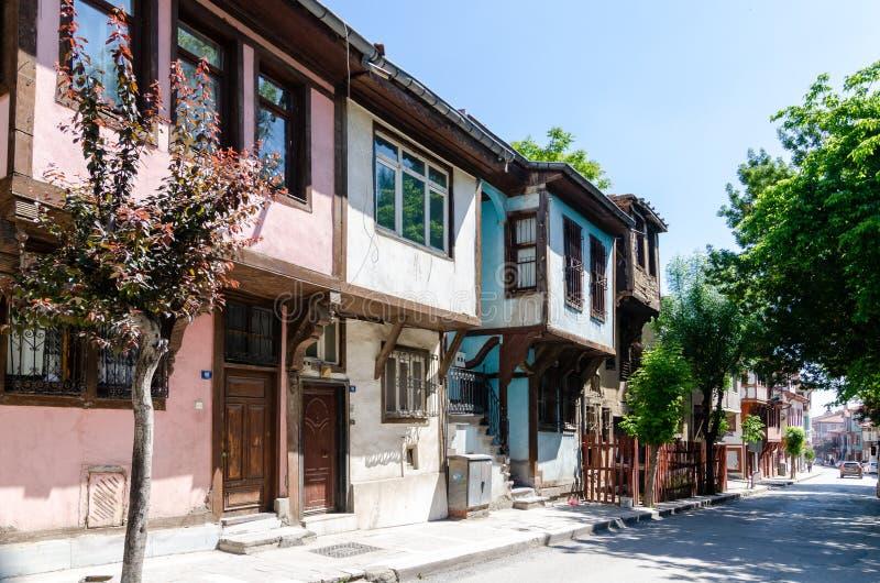 Las casas turcas clásicas del estilo de Ottoman imagen de archivo libre de regalías
