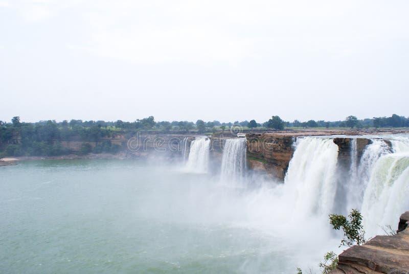 Las cascadas gigantescas de Chitrakoot, la India central foto de archivo