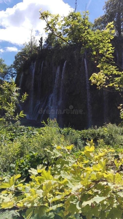 Las cascadas más grandes del plitvice fotografía de archivo libre de regalías