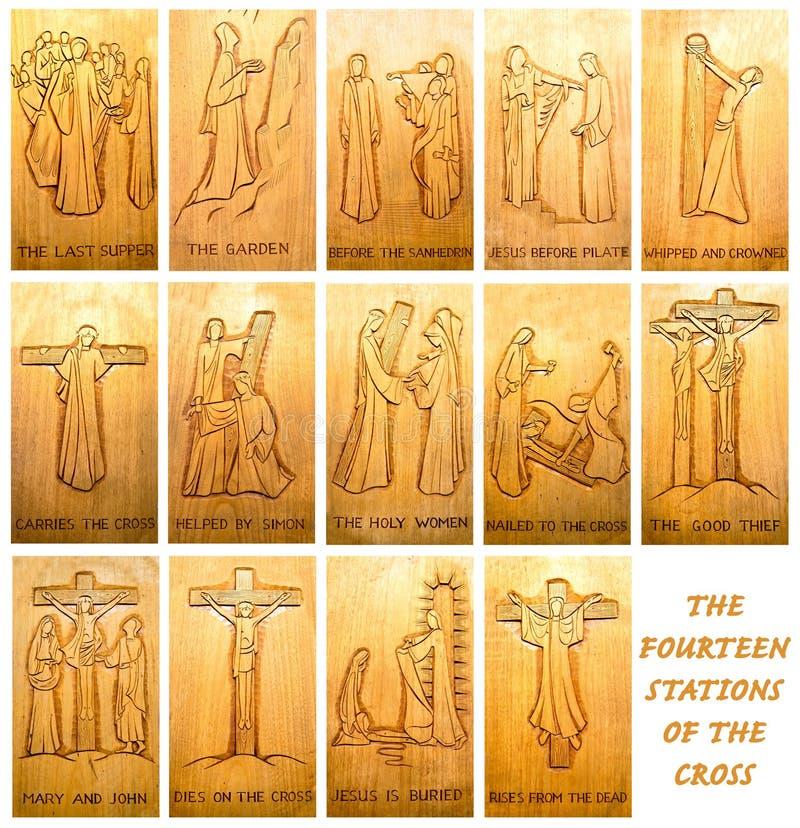 Las catorce estaciones de la cruz foto de archivo libre de regalías