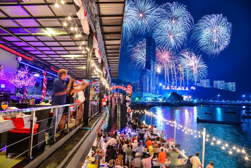 Las celebraciones de Noche Vieja en Pattaya foto de archivo libre de regalías
