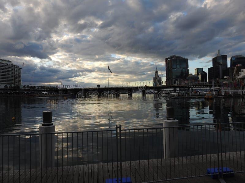 Las ciudades hermosas de Australia son Canberra y Sydney conocidas para Griffin Lake, Museo Nacional, galer?a de artes, el parlam foto de archivo
