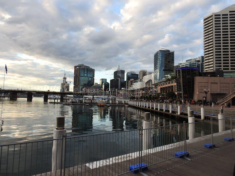 Las ciudades hermosas de Australia son Canberra y Sydney conocidas para Griffin Lake, Museo Nacional, galer?a de artes, el parlam foto de archivo libre de regalías
