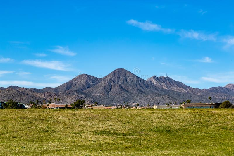 Las colinas de las colinas AZ de la fuente fotografía de archivo libre de regalías