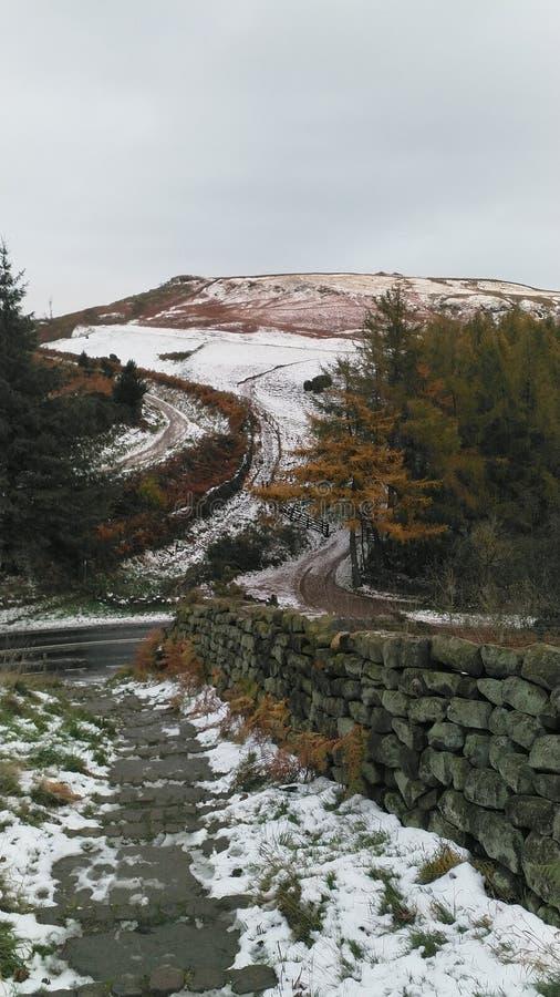 Las colinas nevadas en North Yorkshire amarran, Inglaterra fotografía de archivo libre de regalías