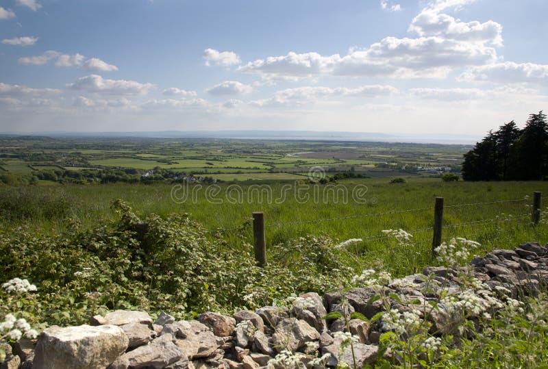 Las colinas Somerset de Quantock fotos de archivo