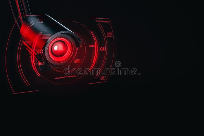 Las compañías hostiles infiltran para el concepto sensible o confidencial de los datos Espionaje del concepto futuro representaci libre illustration