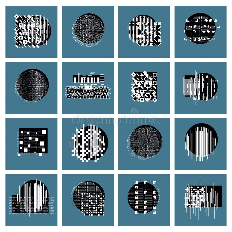 Las composiciones geométricas del vector fijan, resumen artes gráficos ilustración del vector