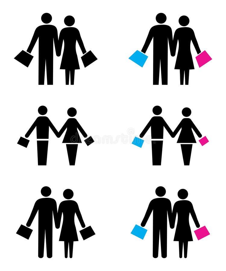 Las compras juntan el logotipo libre illustration