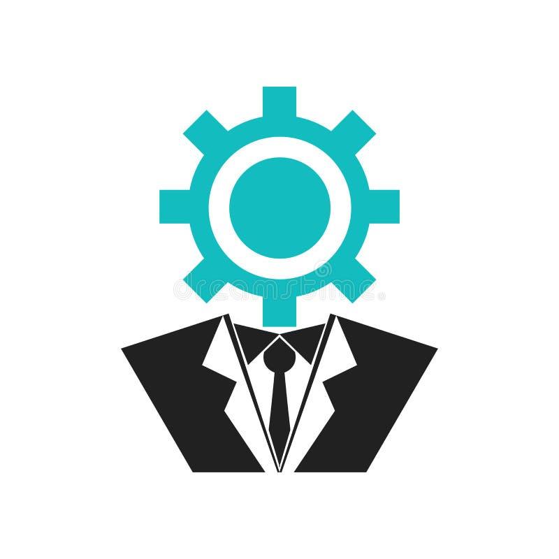 Las configuraciones del usuario interconectan la muestra del vector del icono del símbolo y el símbolo aislado en el fondo blanco libre illustration