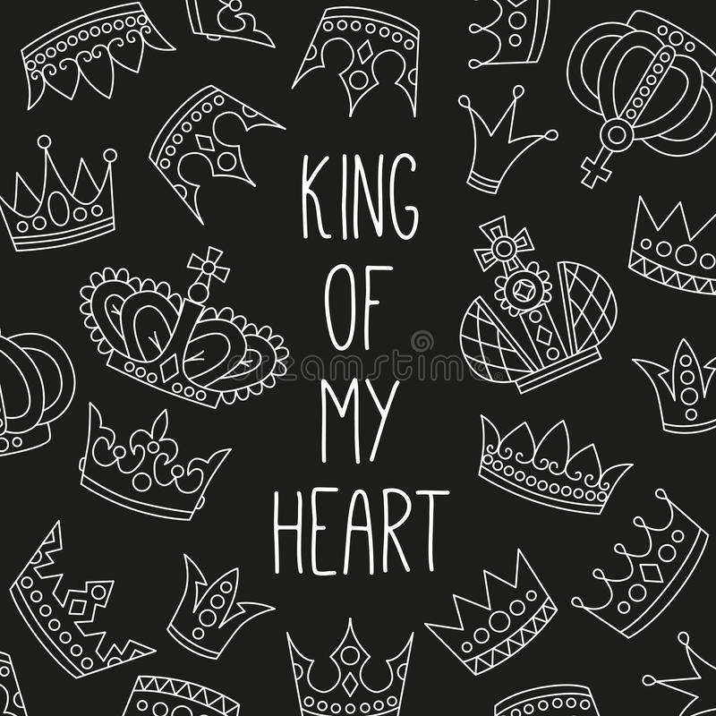 Las coronas reales garabatean iconos libre illustration