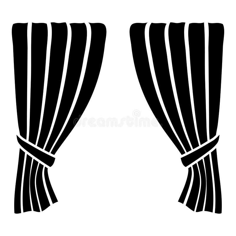 Las cortinas ciegan la sombra Portiere de la cortina del obturador de la cortina cubren para la gran inauguración lujosa de las c ilustración del vector