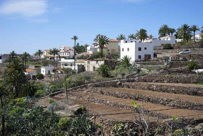 Las Cruces. Village on the La Gomera island, Spain stock photo