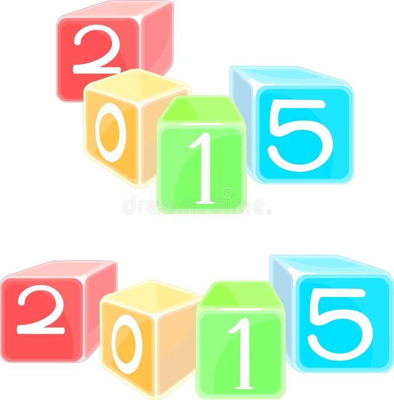 Las cualidades del Año Nuevo stock de ilustración