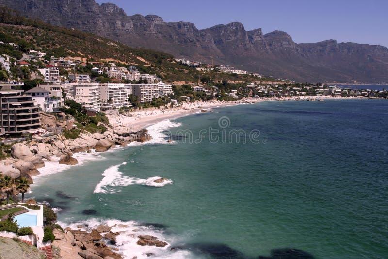 Las cuatro playas de Clifton imagen de archivo libre de regalías
