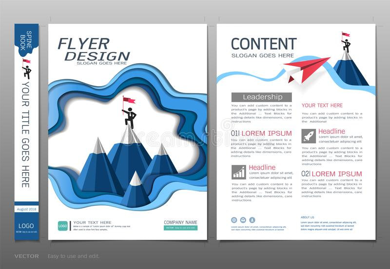 Las cubiertas reservan el vector de la plantilla del diseño, conceptos de la ingeniería del negocio, uso para el folleto, informe stock de ilustración