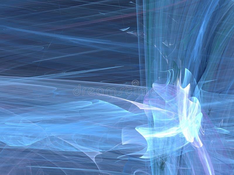Las curvas azules en la forma roscan fractal foto de archivo libre de regalías