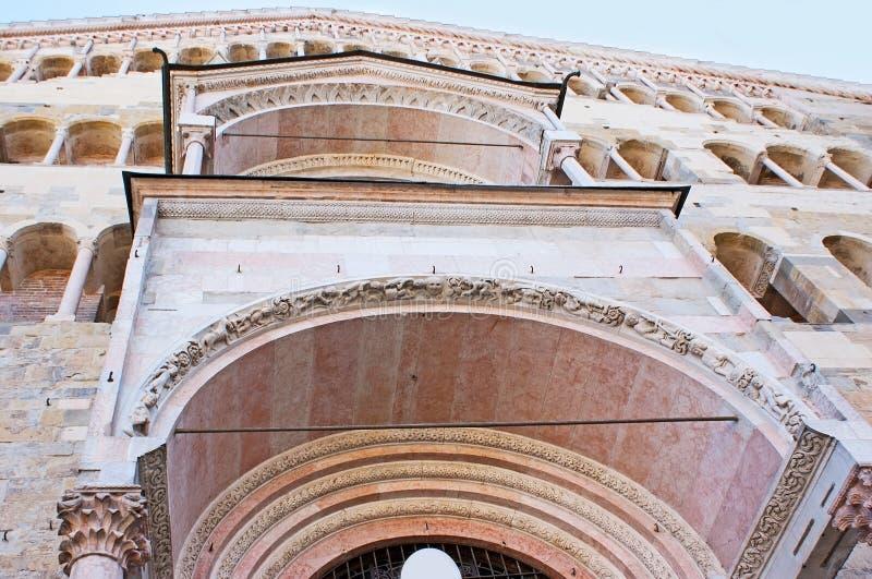 Las decoraciones de la catedral de Parma imagenes de archivo