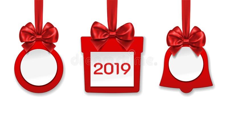 Las decoraciones hicieron del papel para la Navidad, Año Nuevo ilustración del vector