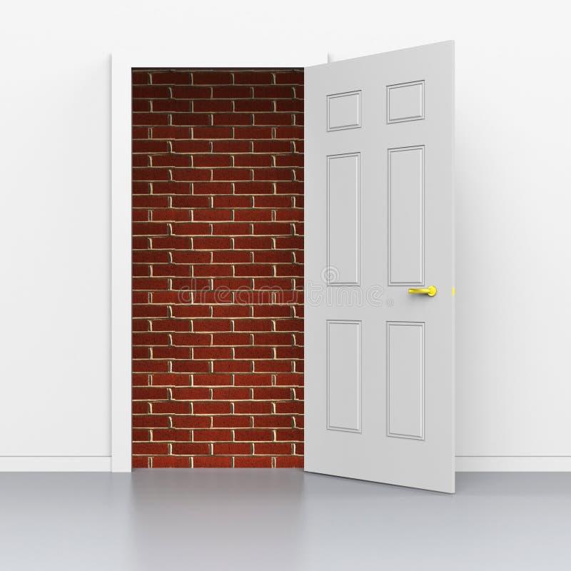 Las demostraciones de la entrada de las puertas superan problemas y la barrera ilustración del vector