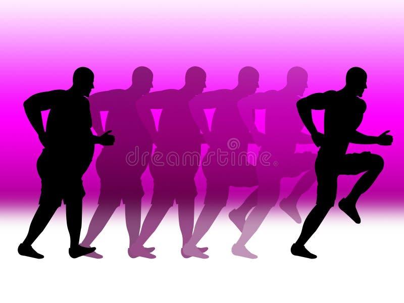 Las demostraciones de la pérdida de peso resuelven funcionamiento y sanos libre illustration