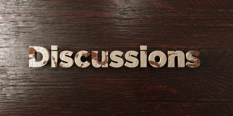 Las discusiones - título de madera sucio en arce - 3D rindieron imagen común libre de los derechos libre illustration