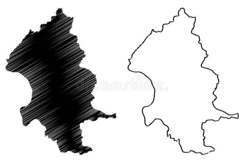 Las divisiones administrativas de la ciudad de Taipei de Taiwán, la República de China, ROC, los municipios especiales trazan el  libre illustration