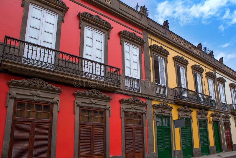 Las domy Palmas De Gran Canaria Vegueta zdjęcie stock