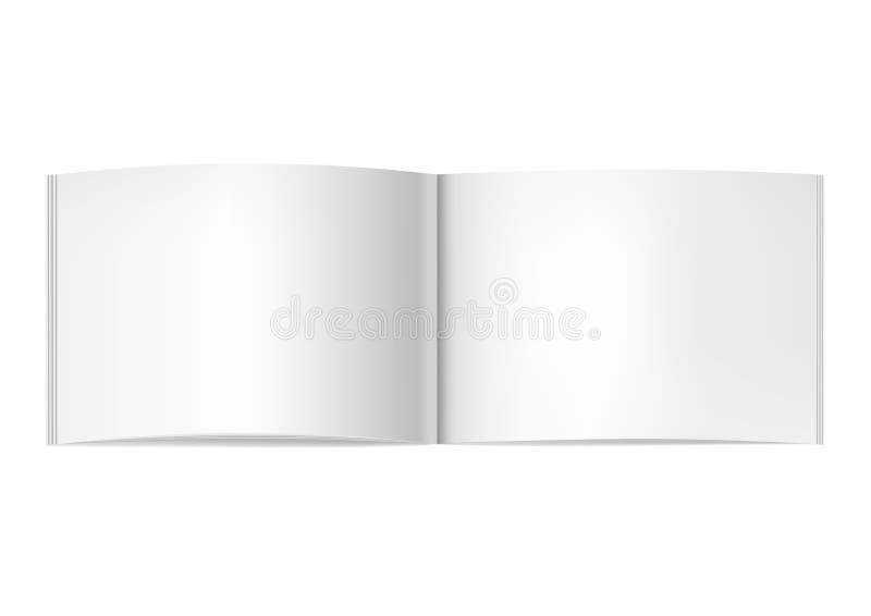 las Dos-páginas abrieron la maqueta horizontal de la revista libre illustration