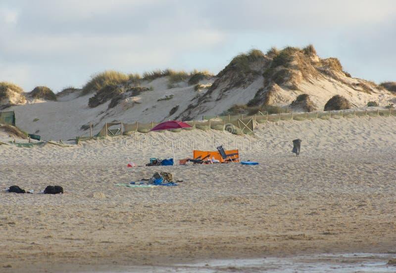 Las dunas de arena en Baleal varan, Peniche, Portugal imagen de archivo libre de regalías