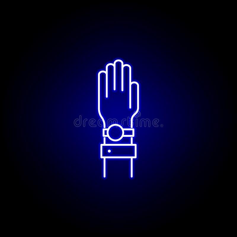 Las elecciones dan el icono del juramento en el estilo de neón Las muestras y los s?mbolos se pueden utilizar para la web, logoti libre illustration