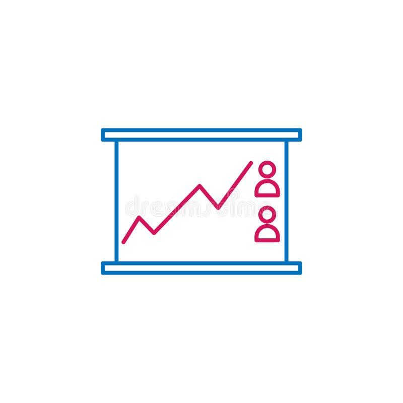 Las elecciones, línea esquema de la carta colorearon el icono Puede ser utilizado para la web, logotipo, app móvil, UI, UX libre illustration