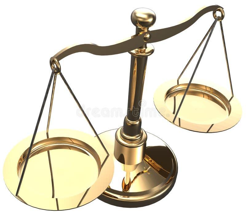 Las escalas pesan la balanza de la opción de la justicia ilustración del vector