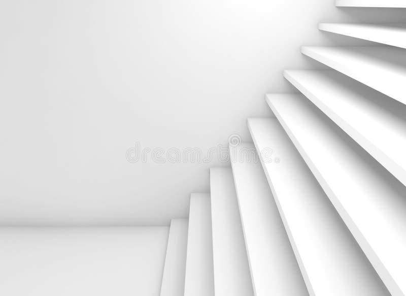 Las escaleras blancas vacías suben, el ejemplo 3d libre illustration