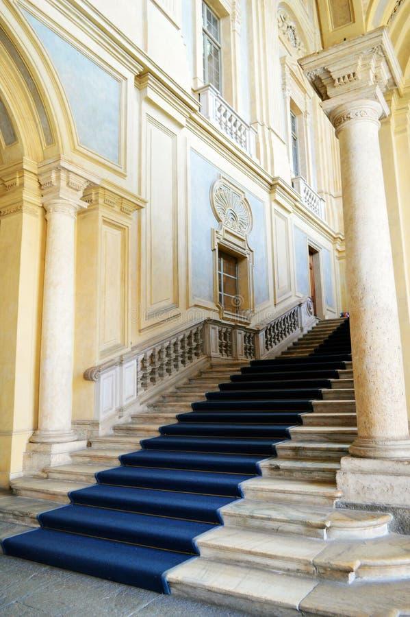 Las escaleras de Juvarra en Palazzo Madama imagen de archivo