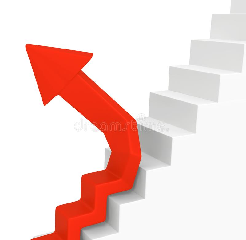 Las escaleras de la flecha divergen libre illustration