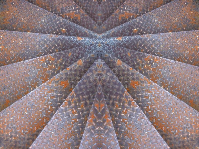 Las escaleras industriales sucias oxidadas del hierro viejo abstracto les gusta el fondo foto de archivo