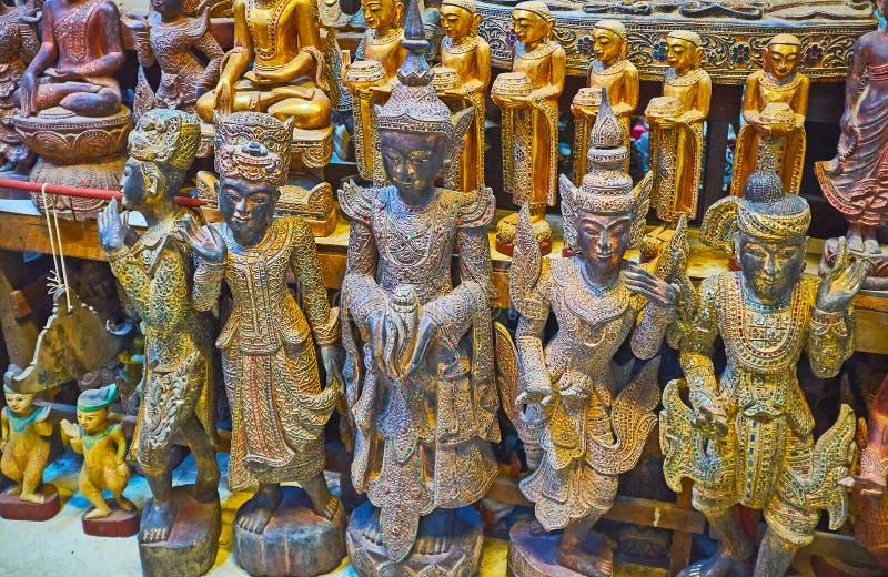 Las esculturas de Nats, Mandalay, Myanmar imagenes de archivo