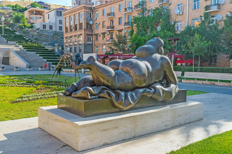 Las esculturas en Ereván fotografía de archivo libre de regalías