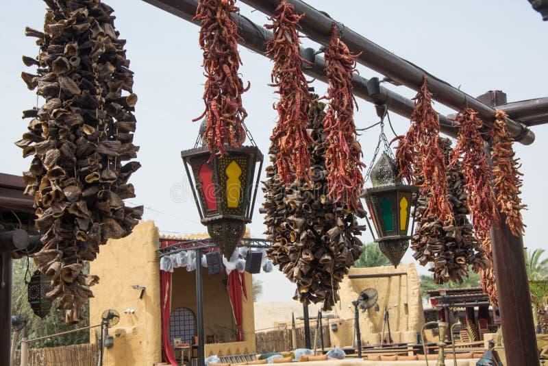 Las especias y las hierbas árabes cuelgan imagen de archivo libre de regalías