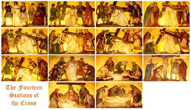 Las estaciones de la cruz imagen de archivo