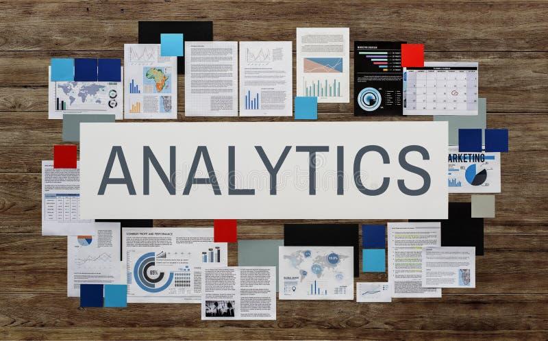 Las estadísticas del Analytics analizan concepto de los modelos del análisis de datos imagen de archivo libre de regalías