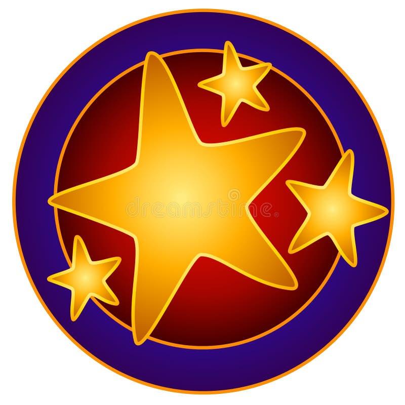 Las estrellas brillantes circundan arte de clip ilustración del vector