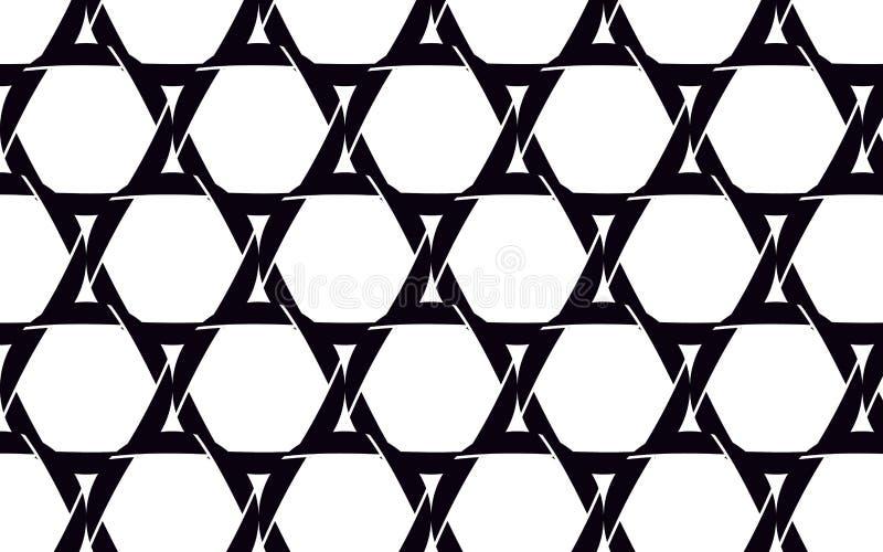 Las estrellas de David negras, hermosas hicieron de cámara negra ilustración del vector