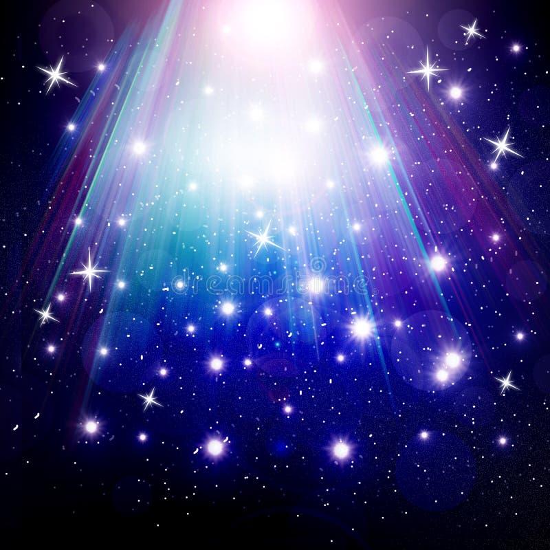 Las estrellas están cayendo en el fondo ilustración del vector