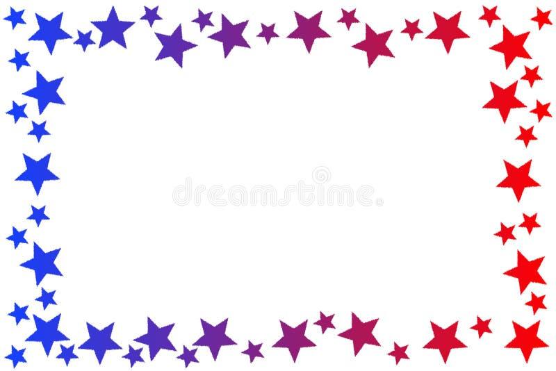 Las estrellas patrióticas enmarcan la frontera stock de ilustración