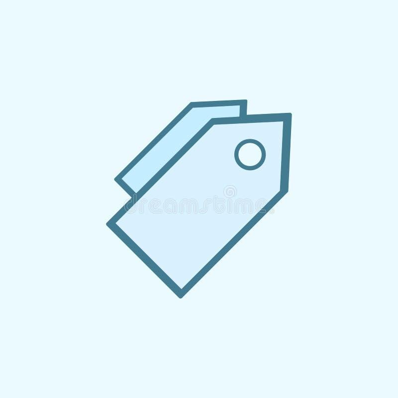 las etiquetas comerciales colocan el icono del esquema Elemento del icono simple de 2 colores Línea fina icono para el diseño y e ilustración del vector