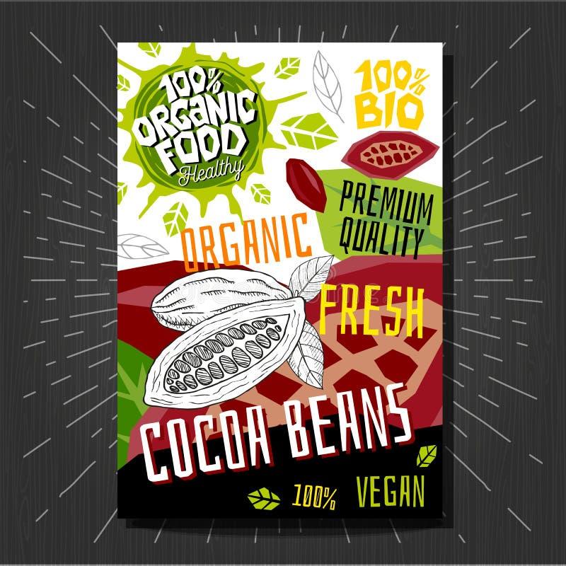 Las etiquetas engomadas de las etiquetas de la comida fijaron las frutas coloridas del estilo del bosquejo, diseño de paquete de  ilustración del vector